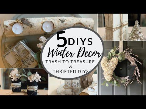 Trash to Treasure DIY Winter Home Decor