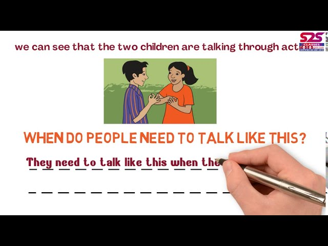 NCERT Class 3 EVS Chapter 7 saying without speaking