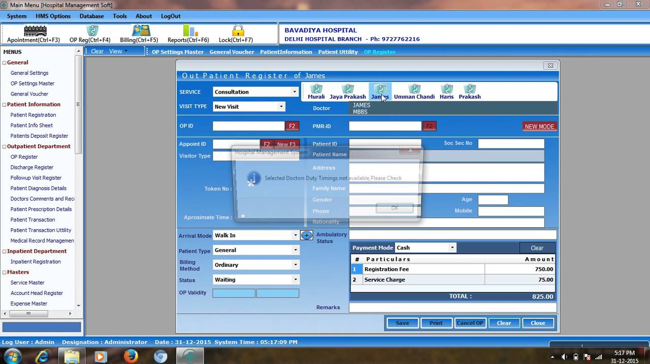 Hospital Management System Vb Net And Sql Server Youtube