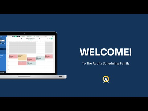 Welcome to Acuity Scheduling!