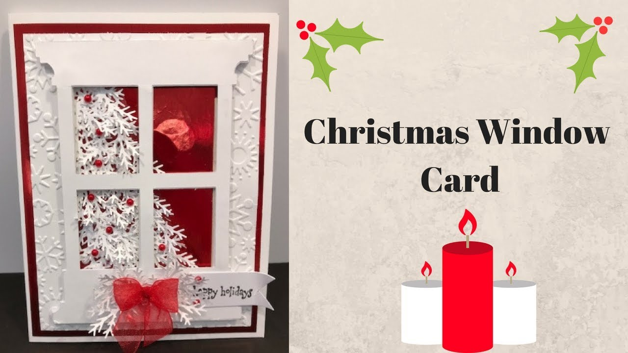 Christmas Window Card & Exciting NEWS!!!!! - YouTube