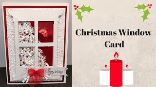Christmas Window Card & Exciting NEWS!!!!!