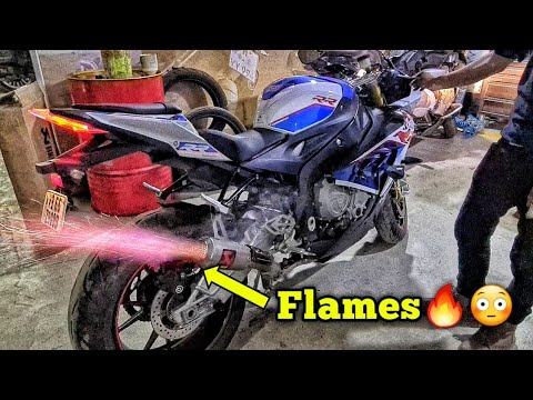 LOUD BMW S1000RR Akrapovic GP Exhuast Full System Sound (Flame Spitter)🔥