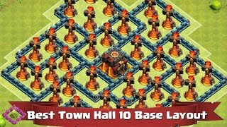 Clash of Clans - Town Hall 10 Base Layout Tips! Episode 127