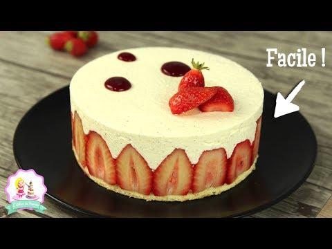 ♡•-recette-fraisier-|-facile-et-rapide-•♡