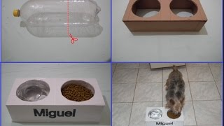 Como fazer um comedouro pra cachorros e gatos