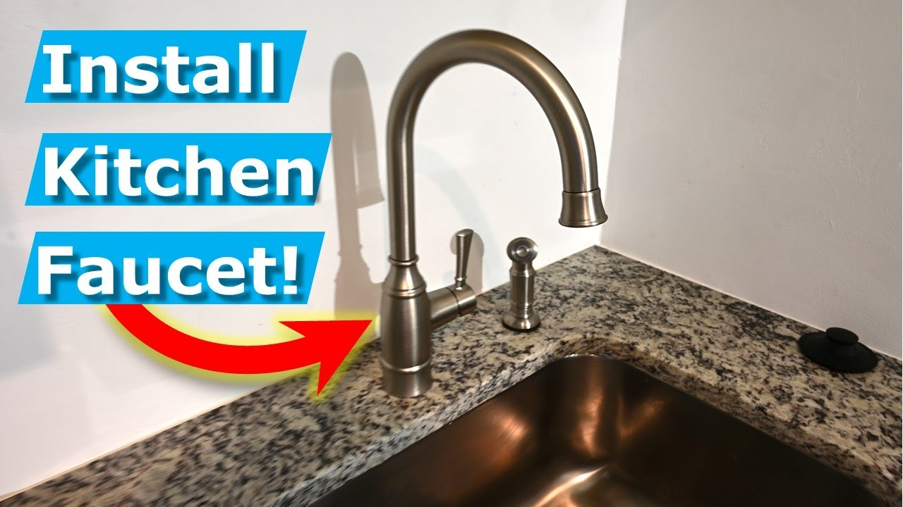 How To Install Kitchen Faucets Diy Plumbing Tips Youtube