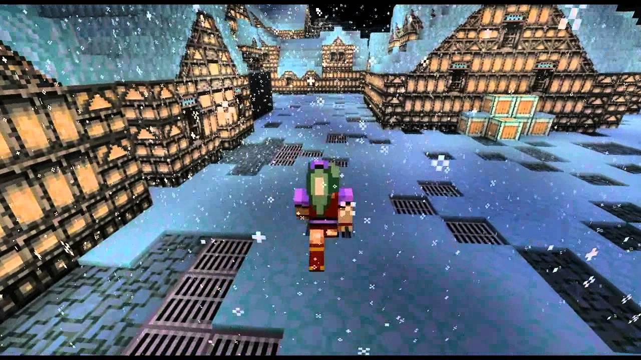Final Fantasy 6 3D Narshe Minecraft