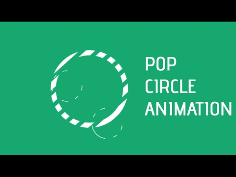 After Effects Tutorial Pop Circle Animation - YouTube - animation circles