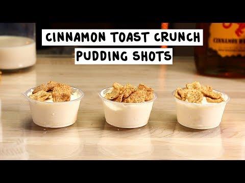 Cinnamon Toast Crunch Pudding Shots