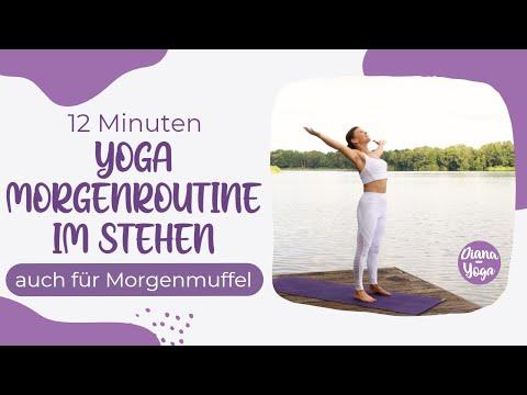 Yoga Morgenroutine im Stehen 12 Minuten