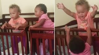 Toddler Helps Twin Sister Escape Her Crib | So Funny!