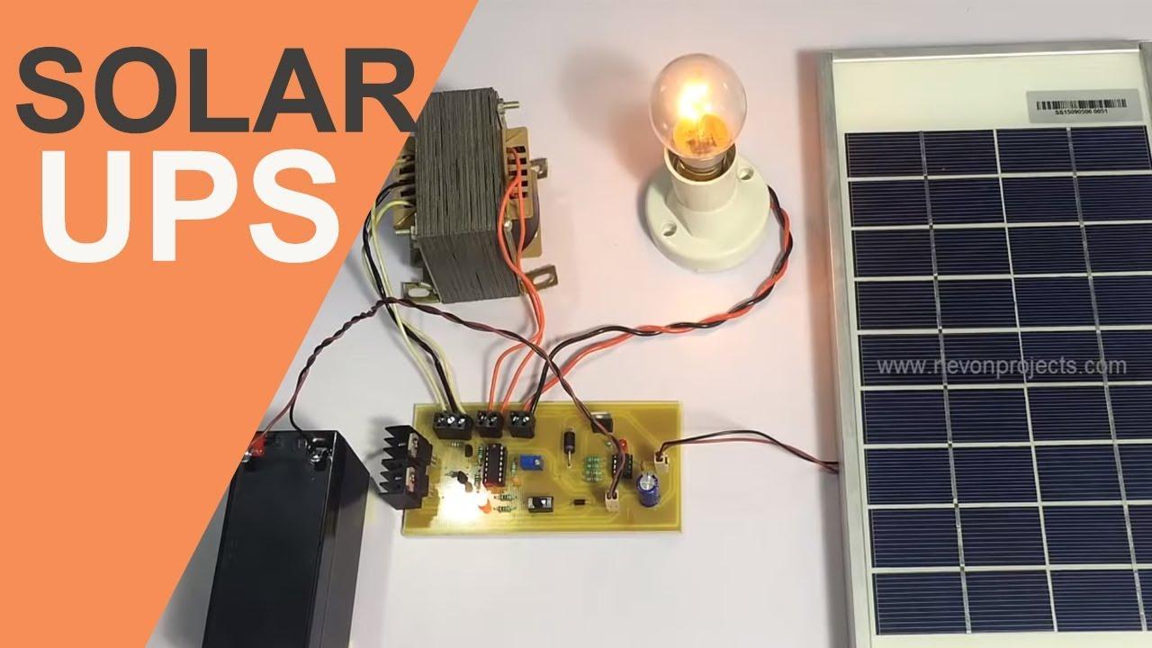 medium resolution of solar based ups project