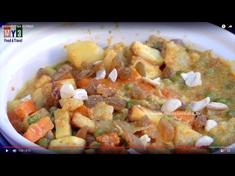 Healthy Nutritious Vegetarian Korma Recipe | NAVARATNA KURMA
