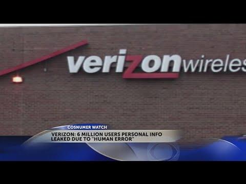 Verizon data of 6 million users leaked online