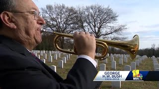 Catonsville resident plays taps for former President George H.W. Bush
