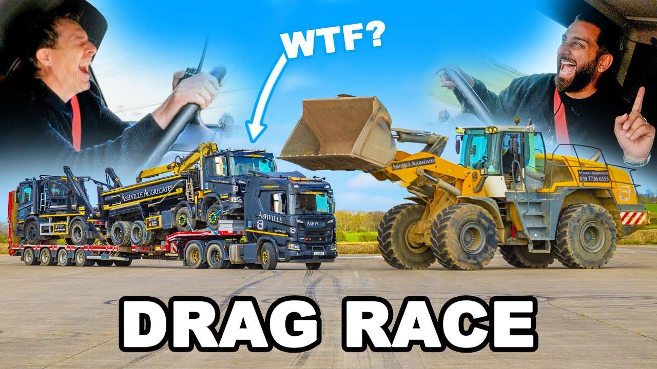 Download Digger vs Low Loader with trucks: DRAG RACE