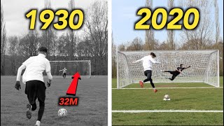 How have PENALTY KICKS Evolved from 1900 to 2021? - THE EVOLUTION OF FOOTBALL