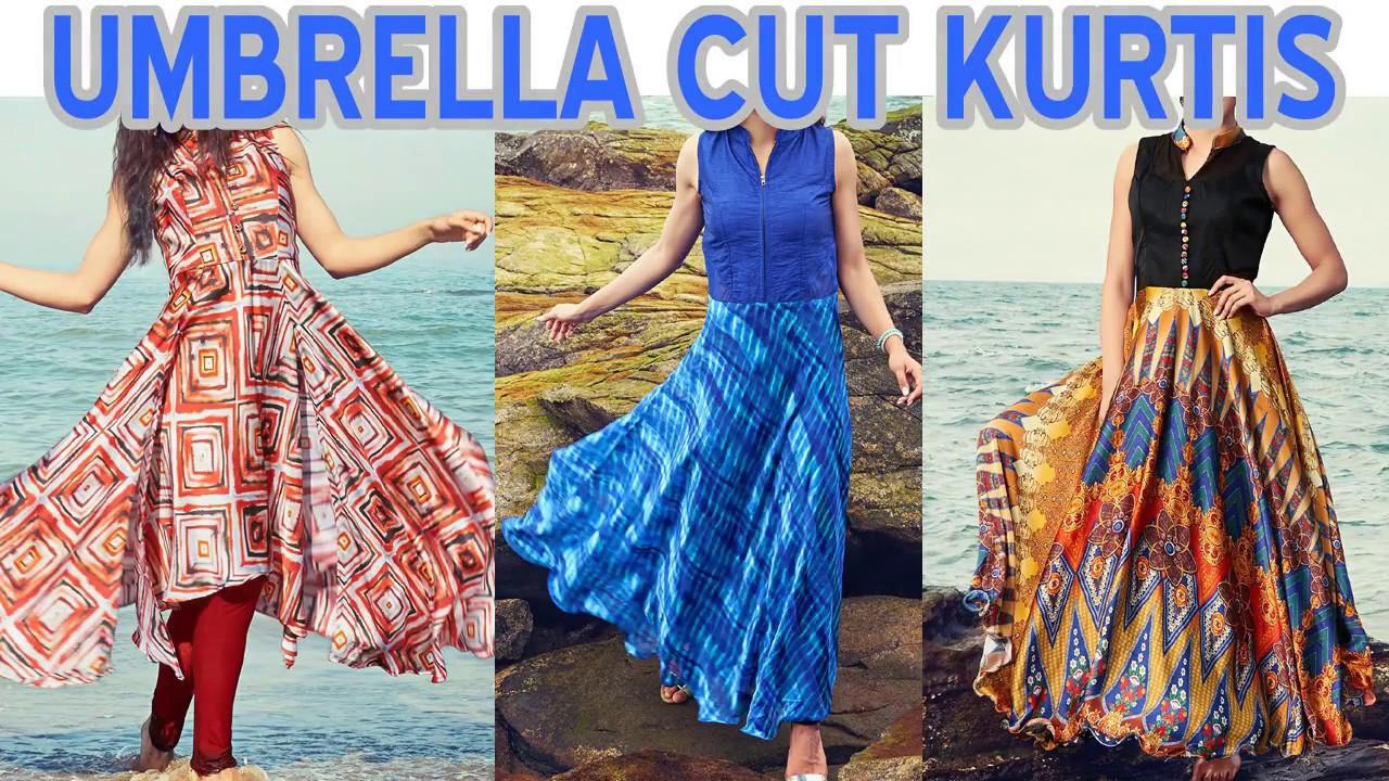 Latest Top Designer Umbrella Cut Kurta Kurti Designs