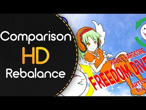 Before and after HD Rebalance Comparison // Cookiezi // xi - FREEDOM DiVE [FOUR DIMENSIONS]