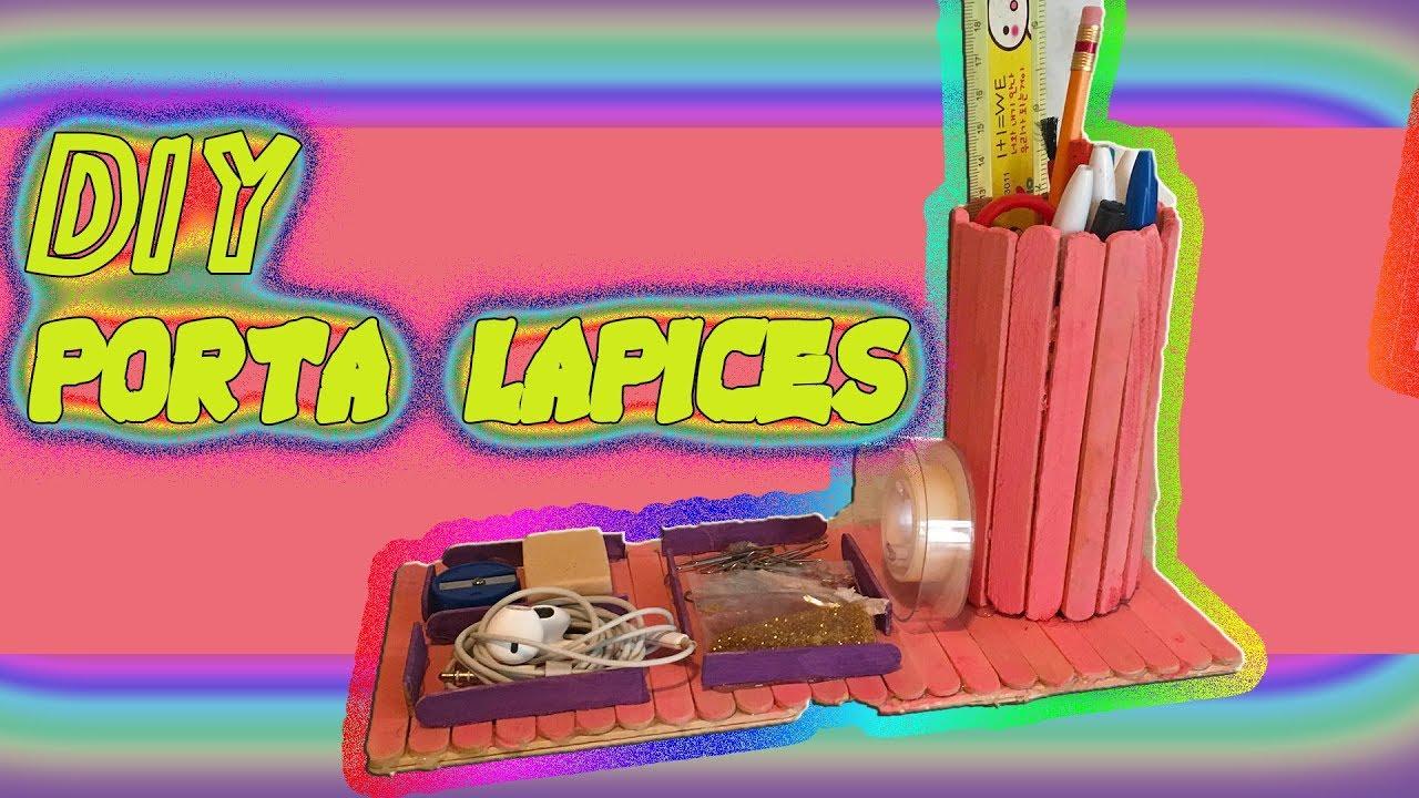 LAPICERO DE PALITOS DE MADERA DIY EO082