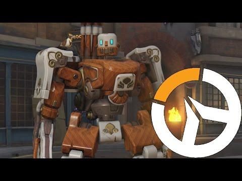 Bastion Robô de madeira - Overwatch