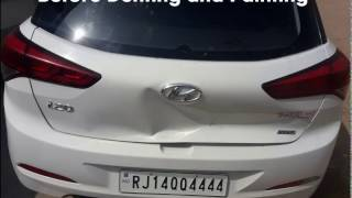 hyundai elite i20 cheap denting and painting with result.