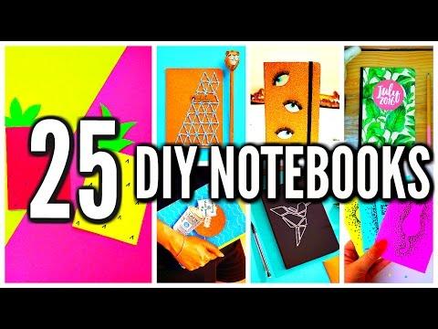 25 DIY Notebooks: DIY School Supplies & Projects! Back To School 2016-2017
