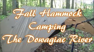 Fall Hammock Camping the Dowagiac River