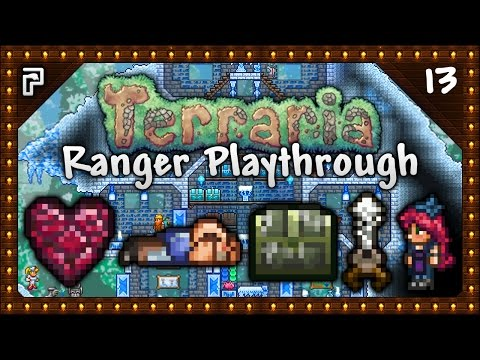 🌳 Terraria 1.3.4 Let's Play | Ranger Playthrough | NPCs & Houses Galore! Web Slinger! [Episode 13]