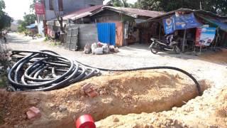 Укладка кабеля конвейерным методом в режиме реального времени, Камбоджа :)(Все дороги ведут в Камбоджу! Не веришь? Смотри! http://cambodia.sinus.vl.ru/ Проект