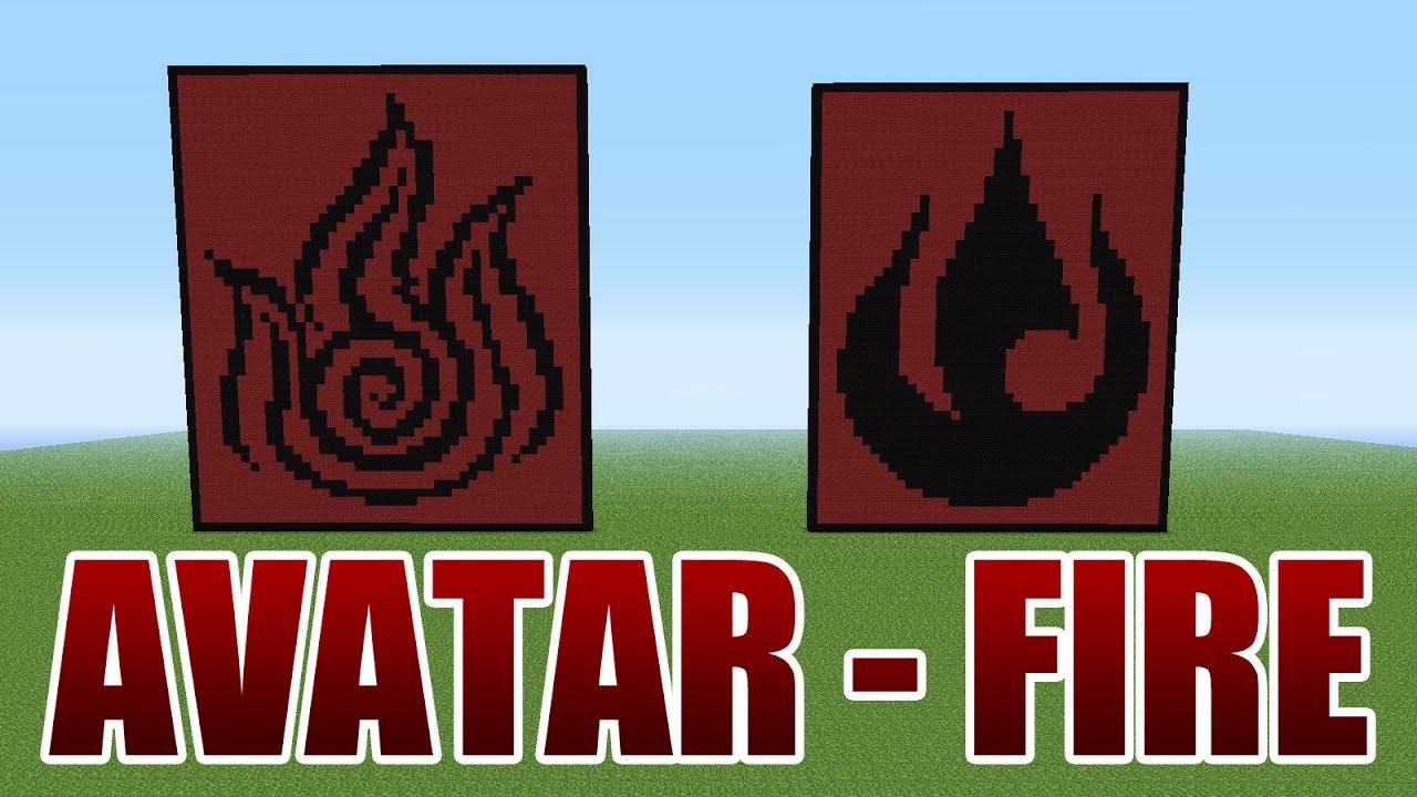 Avatar the last airbender fire pixel art minecraft youtube avatar the last airbender fire pixel art minecraft biocorpaavc Image collections