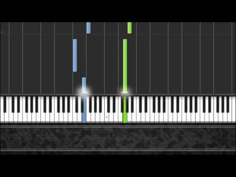 We Shall Overcome - Easy Piano Tutorial by Pluta-X (100% Speed) Synthesia