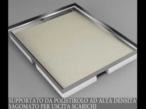 Ad hoc installazione doccia a filo pavimento youtube - Box doccia a filo pavimento ...