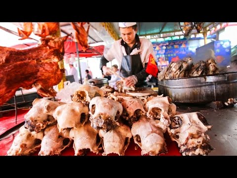 RARE Street Food Tour of Rural China | Cheap SLOPPY Dumplings and Meat NIRVANA!