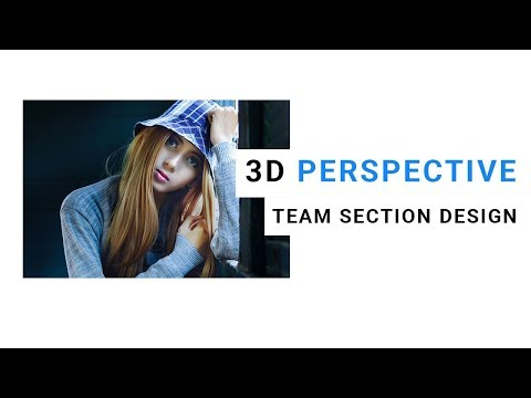 3d perspective team section design | Image hover effects bootstrap | website design