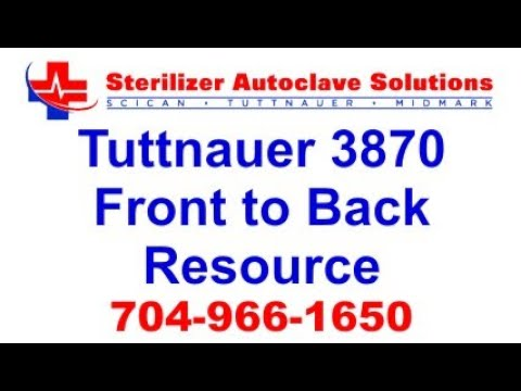 Tuttnauer 3870 Front to Back Resource