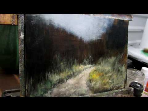 Landscape Painting Demo – WInding Path – Time-lapse