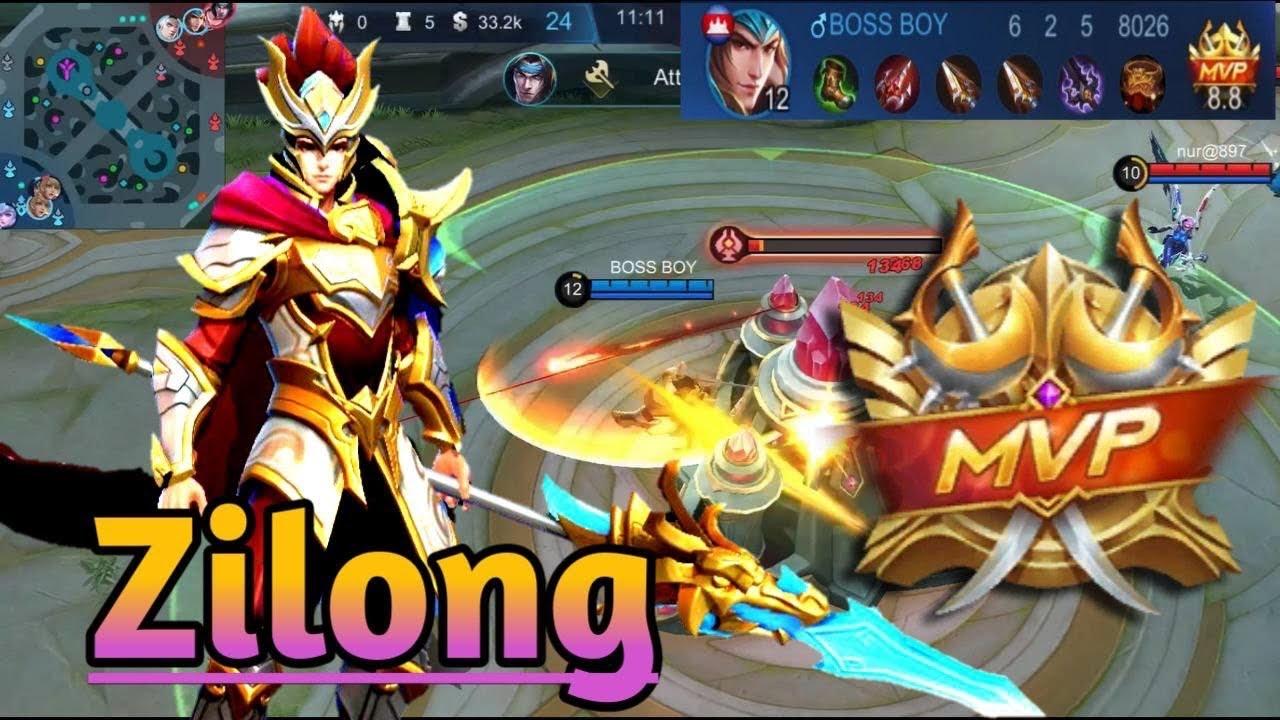 How to play heroes Zilong mobile legends   MVP   how to get MVP mobile legends