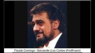 Placido Domingo   Barcarolle Les Contes d
