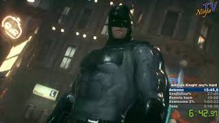 Batman: Arkham Knight speedrun hard in 3:08:40 (PB)