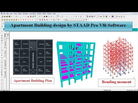 Apartment Building Design by STAAD Pro V8i Software thumbnail