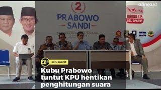Kubu Prabowo tuntut KPU hentikan penghitungan suara