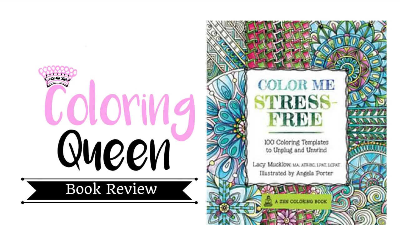- Color Me Stress Free - Adult Coloring Book Review - YouTube