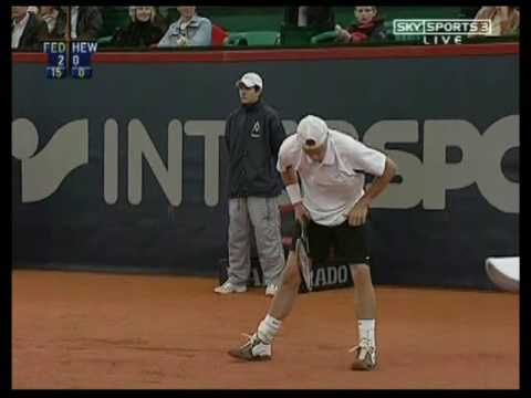 Federer Hewitt Hamburg 2004 semi-final 1st set