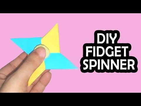 DIY Ninja Star FIDGET SPINNER - No Bearings