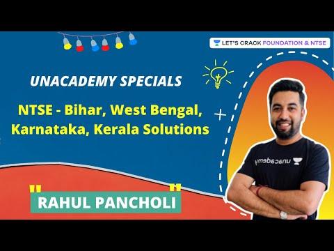 NTSE - Bihar, West Bengal, Karnataka, Kerala Solutions | Unacademy Specials | Rahul Pancholi