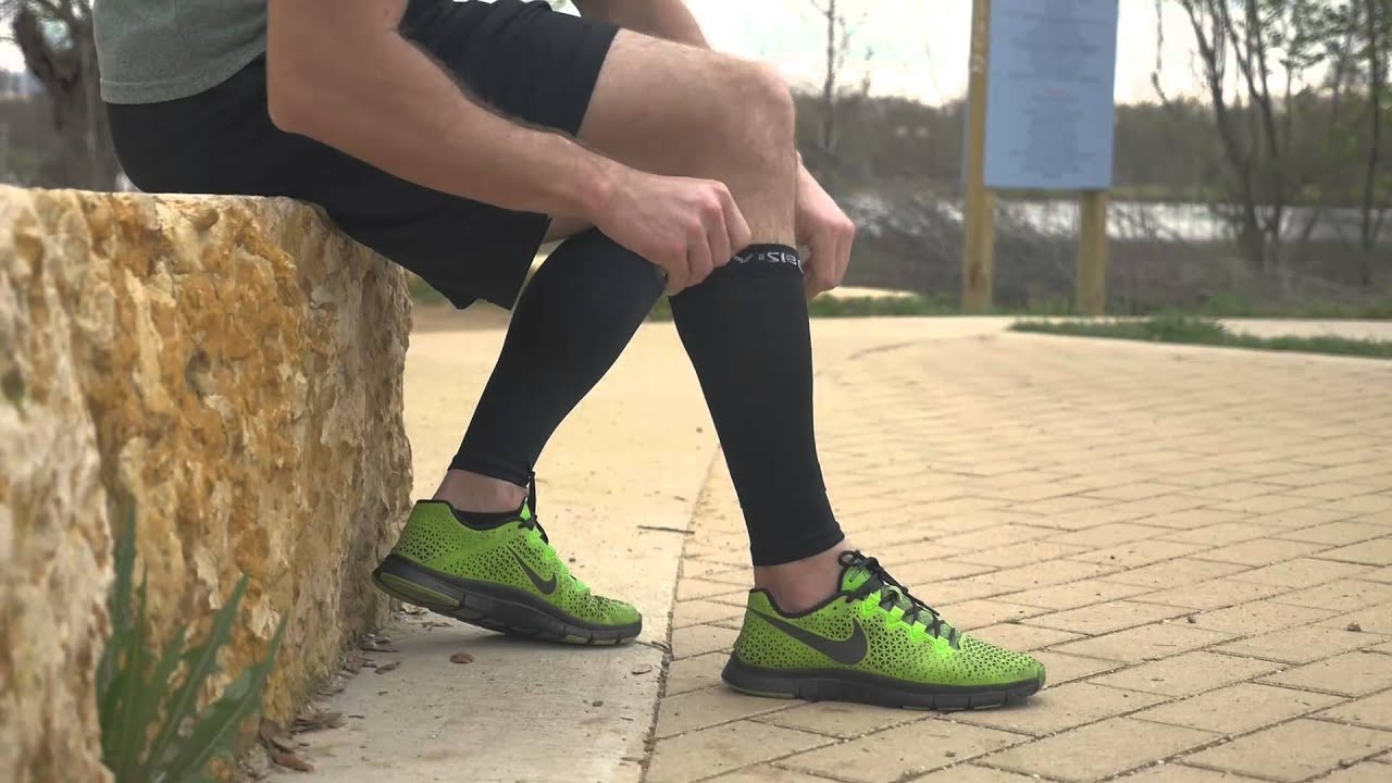 0f9c5db8fc Calf compression sleeves BeVisible Sports Live - YouTube