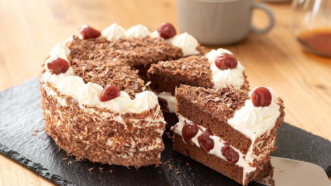 White Forest Cake Recipe In Pressure Cooker: フォレノワールの作り方 Black Forest Cake|HidaMari Cooking