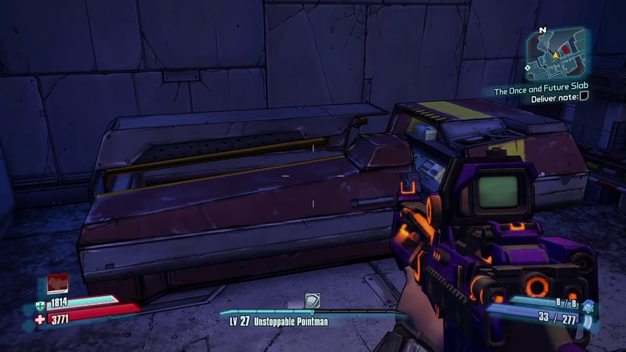 Borderlands 2 :Commando finds legendary class mods for the psyco class in a  chest